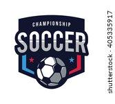 soccer logos  american logo... | Shutterstock .eps vector #405335917