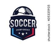 soccer logos  american logo... | Shutterstock .eps vector #405335935