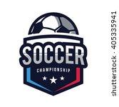 soccer logos  american logo... | Shutterstock .eps vector #405335941