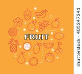 fruit minimal outline icons ... | Shutterstock .eps vector #405347341
