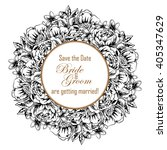 romantic invitation. wedding ... | Shutterstock . vector #405347629