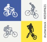 bike and bikers man... | Shutterstock .eps vector #405349621