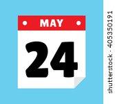 calendar icon flat may 24