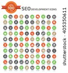 100 seo and web development... | Shutterstock .eps vector #405350611