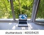 opened plastic window in room...   Shutterstock . vector #40535425