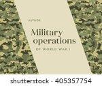 khaki book cover leaflet... | Shutterstock .eps vector #405357754
