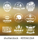 rugby logo vector colorful set  ... | Shutterstock .eps vector #405361264