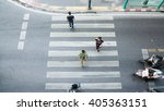 people are moving across the... | Shutterstock . vector #405363151