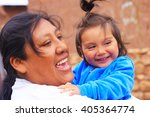 happy aymara family | Shutterstock . vector #405364774