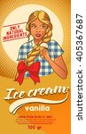 Girl In '50s Style With Ice...