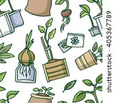 seamless pattern  with growing...   Shutterstock .eps vector #405367789