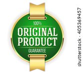 green original product badge ... | Shutterstock .eps vector #405369457