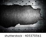 cracked metal template... | Shutterstock . vector #405370561