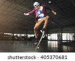 skateboarding practice... | Shutterstock . vector #405370681