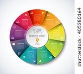 vector infographic circle... | Shutterstock .eps vector #405380164