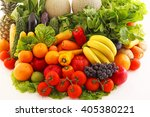 fresh fruits and vegetables | Shutterstock . vector #405380221