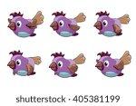 bird animation vector frames....