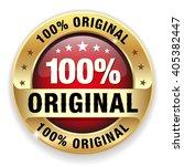 red 100 percent original badge... | Shutterstock .eps vector #405382447