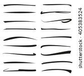 vector set of hand drawn...   Shutterstock .eps vector #405383524