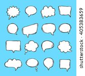 speech bubbles and thought... | Shutterstock .eps vector #405383659