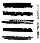 black ink vector brush strokes. ... | Shutterstock .eps vector #405390619