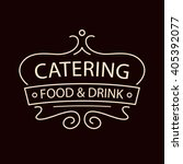 vector logo for catering... | Shutterstock .eps vector #405392077