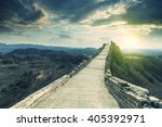 majestic great wall of china | Shutterstock . vector #405392971