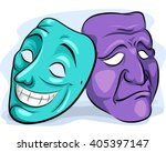 illustration of a pair of masks ... | Shutterstock .eps vector #405397147