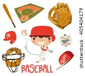 baseball player boy. baseball... | Shutterstock .eps vector #405404179