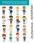 big set of cartoon vector... | Shutterstock .eps vector #405409387