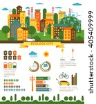 ecology infographic elements.... | Shutterstock .eps vector #405409999