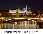view of moscow red brick... | Shutterstock . vector #405411724