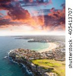 Sydney Bondi Beach Sunset Aerial - Fine Art prints
