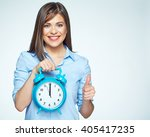 smiling business woman holding... | Shutterstock . vector #405417235