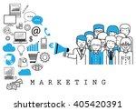 marketing team on white... | Shutterstock .eps vector #405420391