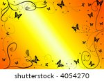 background with butterflies and ... | Shutterstock . vector #4054270