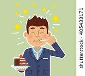 illustration of a businessman... | Shutterstock .eps vector #405433171