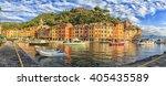 Portofino  Italy  Panoramic View