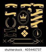 gold banner  | Shutterstock .eps vector #405440737