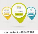 vector steps  progress circle... | Shutterstock .eps vector #405452401