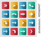 colorful arrow rounded square...