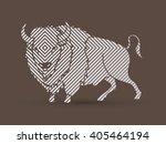 buffalo standing designed using ... | Shutterstock .eps vector #405464194