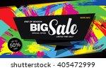 sale banner template design | Shutterstock .eps vector #405472999