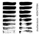 set of vector ink brush strokes  | Shutterstock .eps vector #405475984