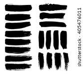 set of vector ink brush strokes    Shutterstock .eps vector #405476011
