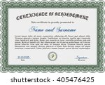 green diploma template or... | Shutterstock .eps vector #405476425