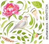 watercolor seamless green... | Shutterstock . vector #405477124