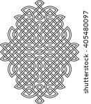 vector celtic knot pattern | Shutterstock .eps vector #405480097