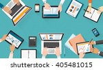 business team working together... | Shutterstock .eps vector #405481015