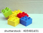plastic building blocks | Shutterstock . vector #405481651